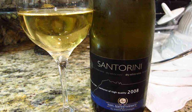 Vinul din Santorini