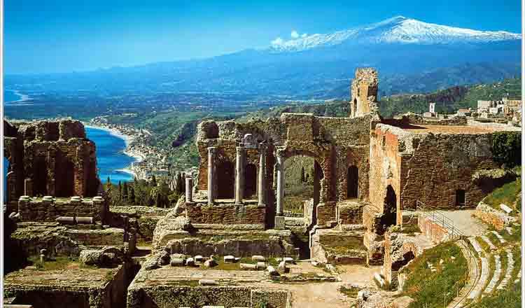 Obiective turistice Taormina din Italia