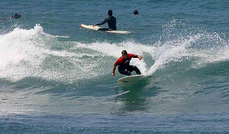 Surfing in Peniche