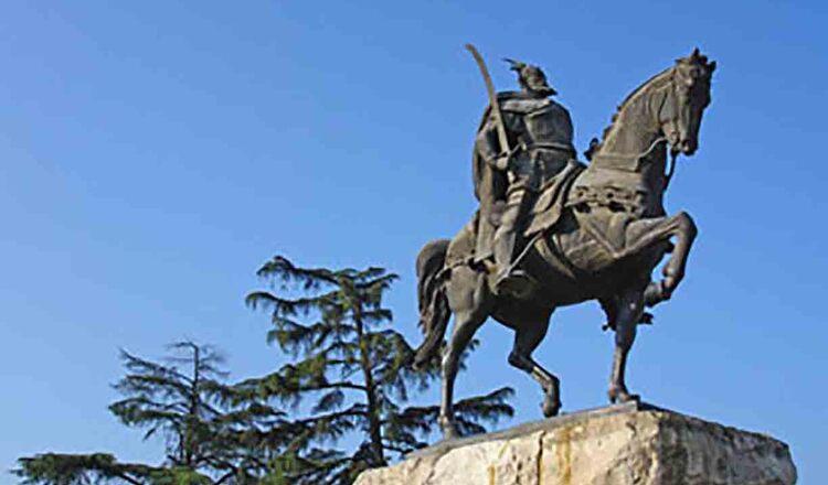 Statuia regelui Skanderberg