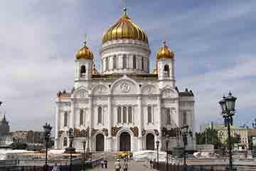 Moscova - Catedrala Iisus Hristos Mantuitorul