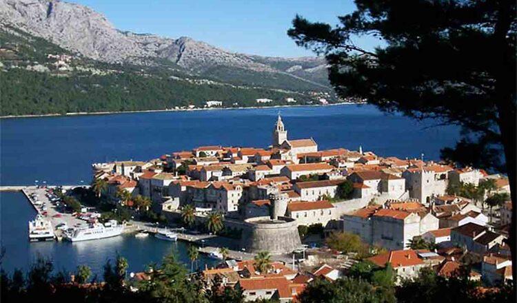 Obiective turistice Insula Korcula din Croatia