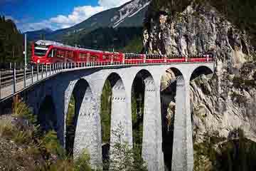 Cantonul Graubunden - Viaductul Wiesen