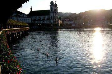 Lucerne - Malul drept al raului