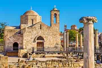 Paphos - Bazilica lui Hrysopolitissa si stalpul Sf Paul